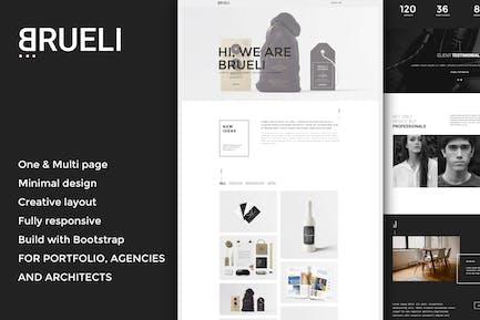 Brueli - Minimal Portfolio / Agency / Architect