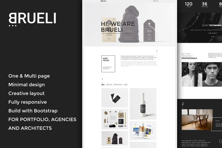 Thumbnail for Brueli - Minimal Portfolio / Agency / Architect