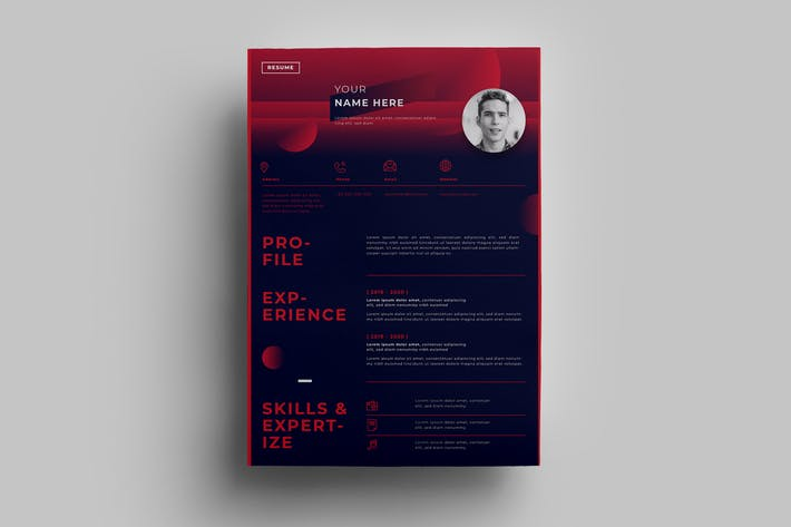 Thumbnail for Resume Design Templates.14