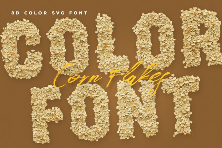 Thumbnail for Corn Flakes Color Fonts