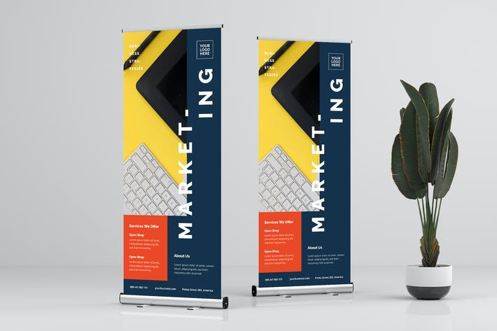Thumbnail for Roll Up Banner Business Promotion Vol. 4