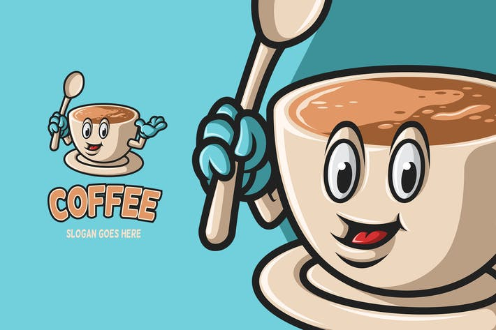 Coffee - Mascot Logo