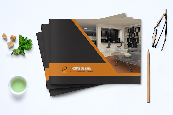 Thumbnail for A5 Interior Catalogue Template