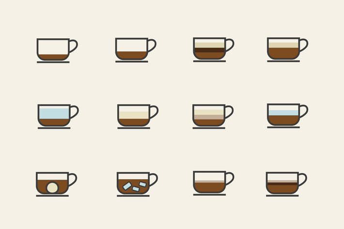 Thumbnail for 12 Coffee Type Icons