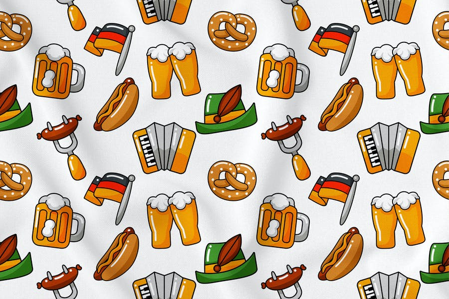 Oktoberfest Seamless Pattern Vol. 1