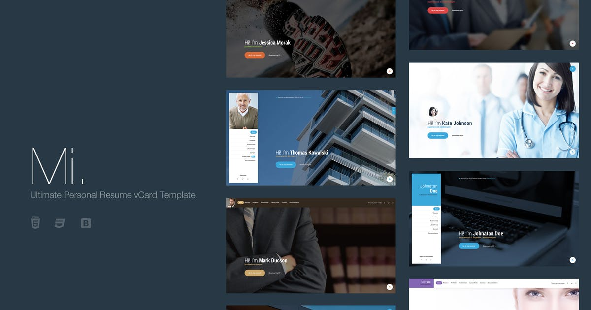 Download Mi. - Ultimate Personal Resume vCard Template by suelo