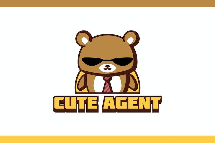 Thumbnail for Cartoon Cute Agent Bear Mascot Character Logo
