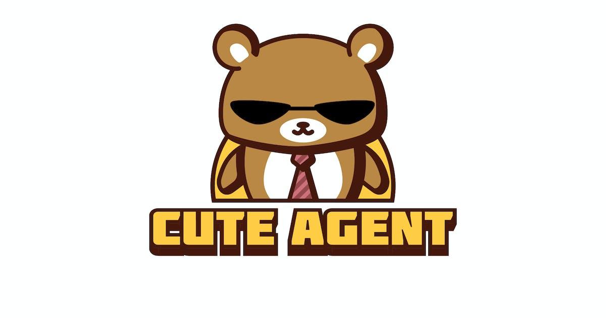 Download Cartoon Cute Agent Bear Mascot Character Logo by Suhandi