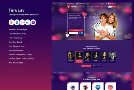 Dating Social Network Template