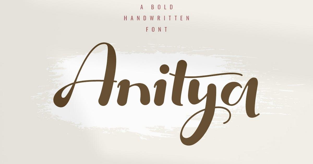 Download Anitya - Bold Handwritten by Ahnaf-Studio