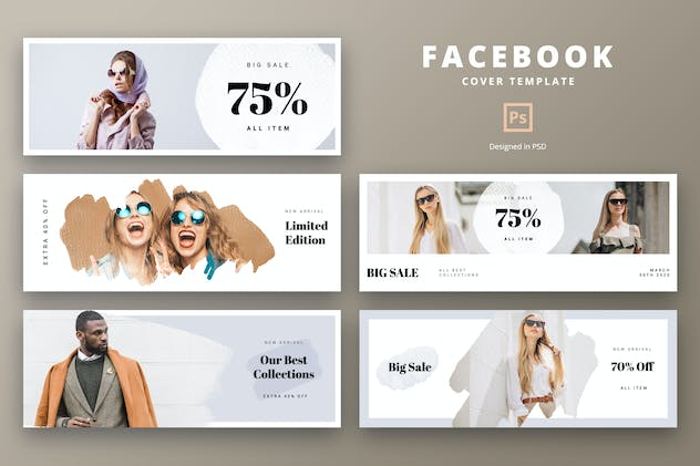 Facebook Cover Template Summer Fashion - product preview 0