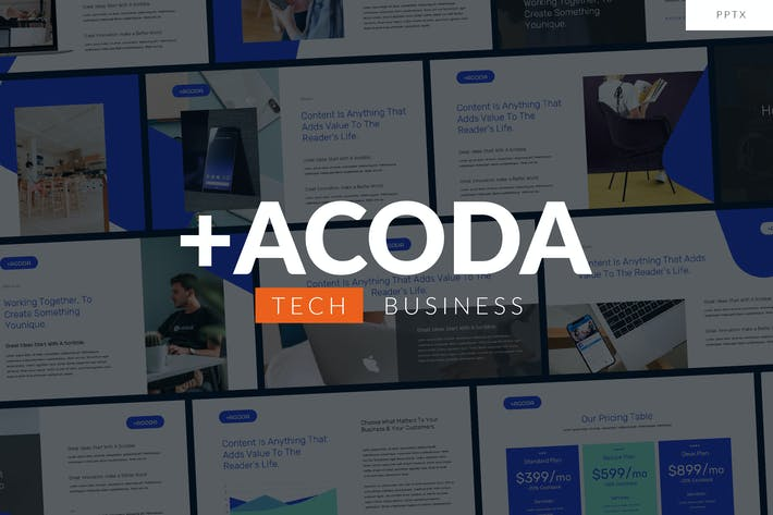 Thumbnail for ACODA - Tech Business Powerpoint Template