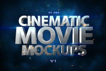 Cinematic 3D Movie Mockups V1