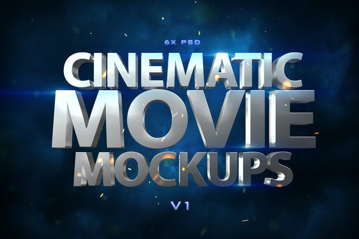 Thumbnail for Cinematic 3D Movie Mockups V1