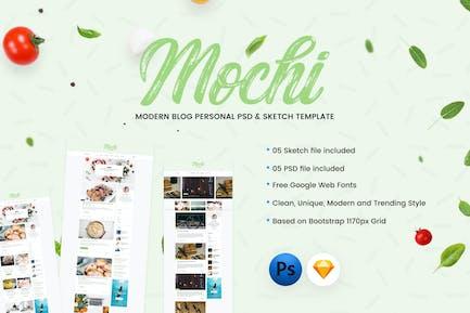Mochi - Personal Blog PSD & Sketch Template