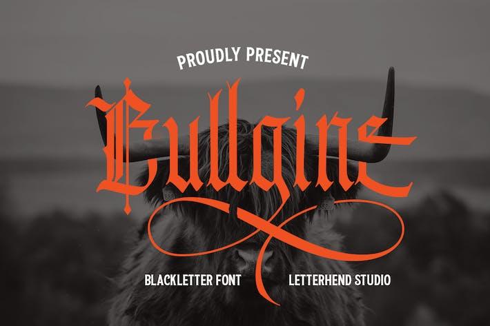 Lettre noire Bullgine