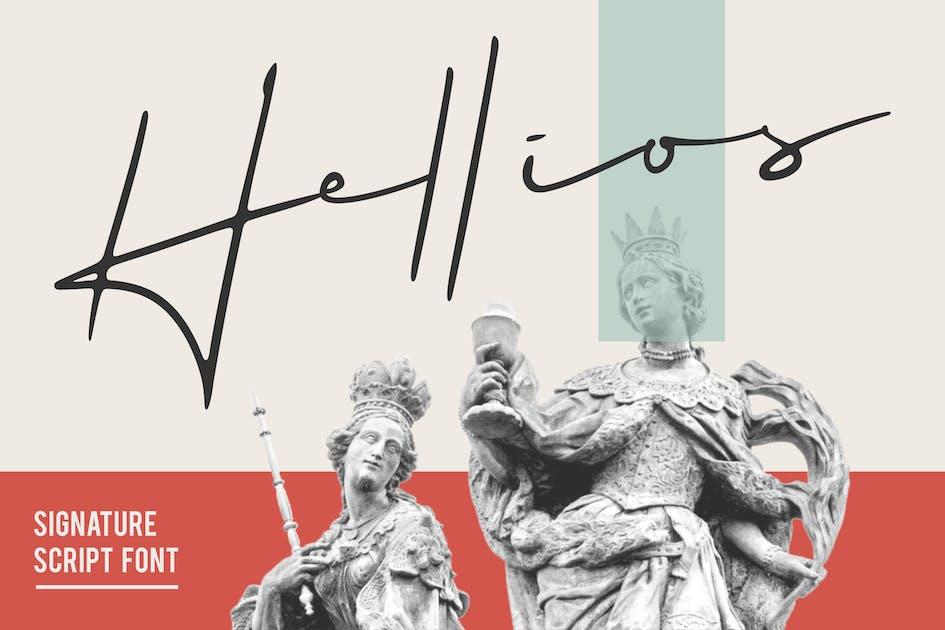 Download Hellios Signature Font by deemakdaksinas