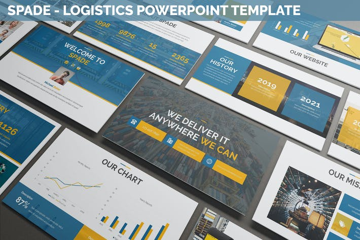 Thumbnail for Spade - Logistics Powerpoint Template