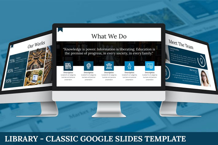 Thumbnail for Library - Classic Google Slides Template