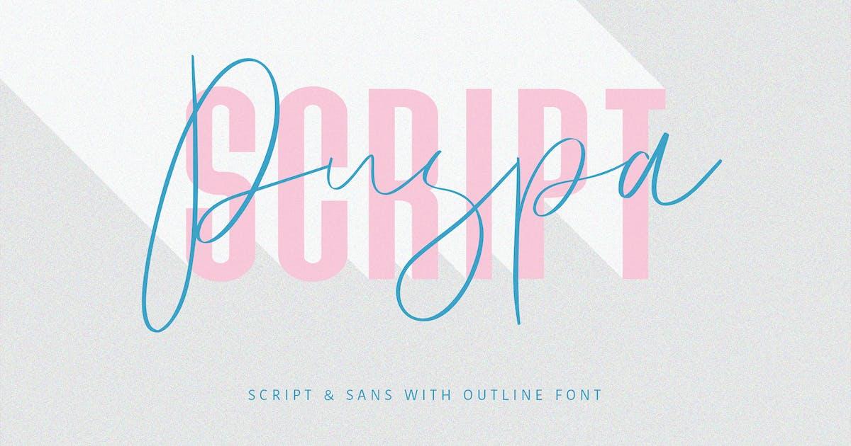 Download Puspa Script Sans Font by maulanacreative