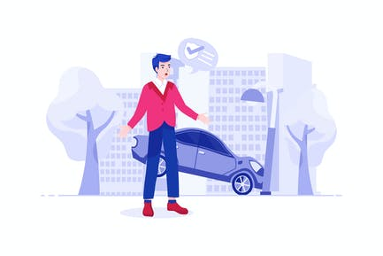 Accident Insurance Vector Illustration concept