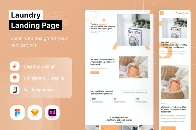 Laundry Landing Page