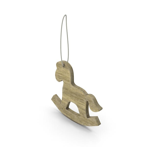 Thumbnail for Wooden Horse Christmas Decoration