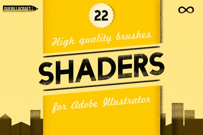Thumbnail for Shader Brushes For Adobe Illustrator