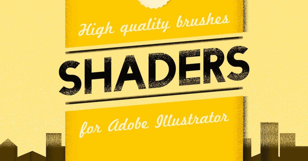 Shader Brushes For Adobe Illustrator by guerillacraft on