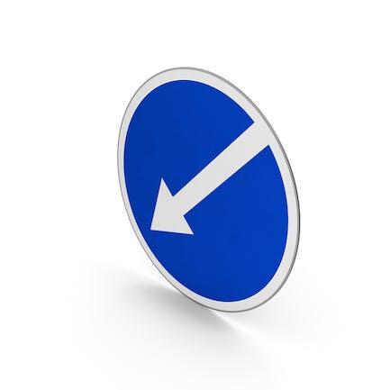 Verkehrszeichen links halten