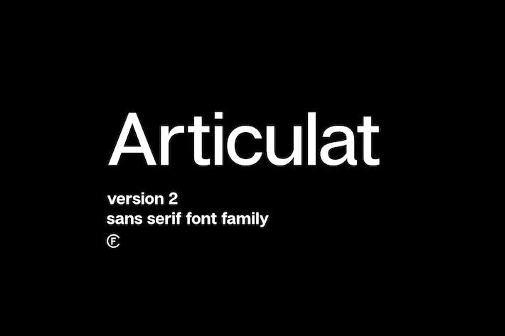 Thumbnail for Articulat CF | modernist sans-serif font family