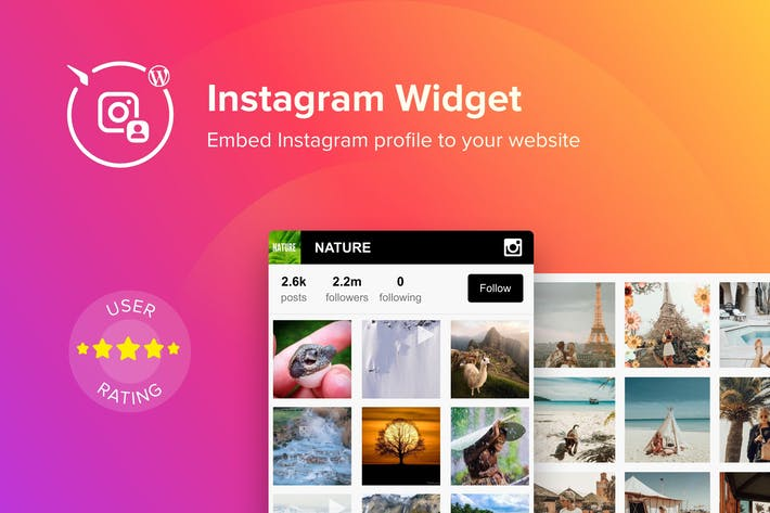 WordPress Instagram Widget by Elfsight on Envato Elements