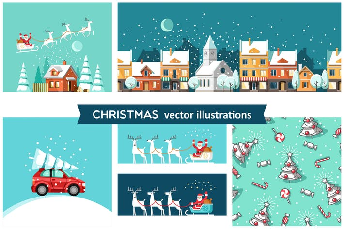 Thumbnail for Christmas vector illustrations