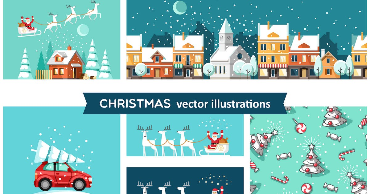 Download Christmas vector illustrations by Faber14
