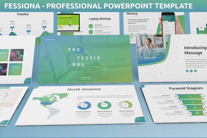 Thumbnail for Fessiona - Professional Powerpoint Template
