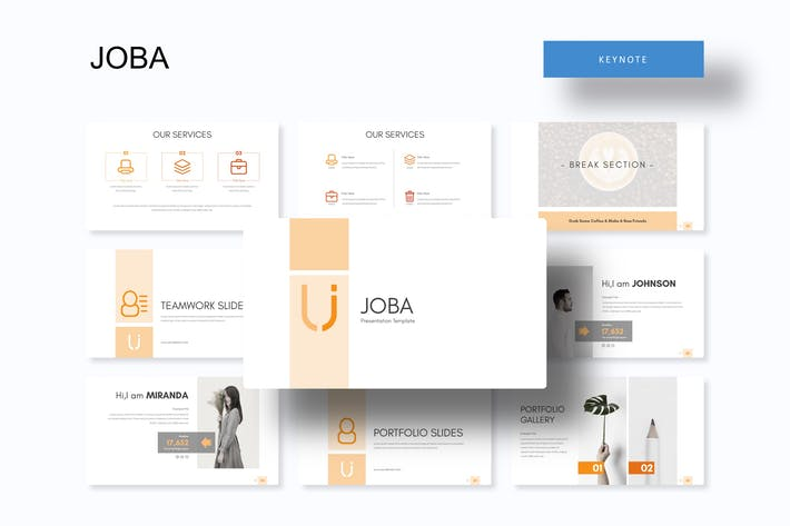Cover Image For Joba - Keynote Template