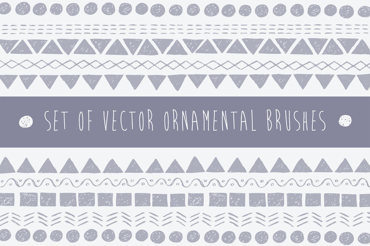 Download Vector Pattern Brushes Set by bumkatrin by Unknow