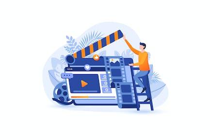 Video Marketing - Flat Concept
