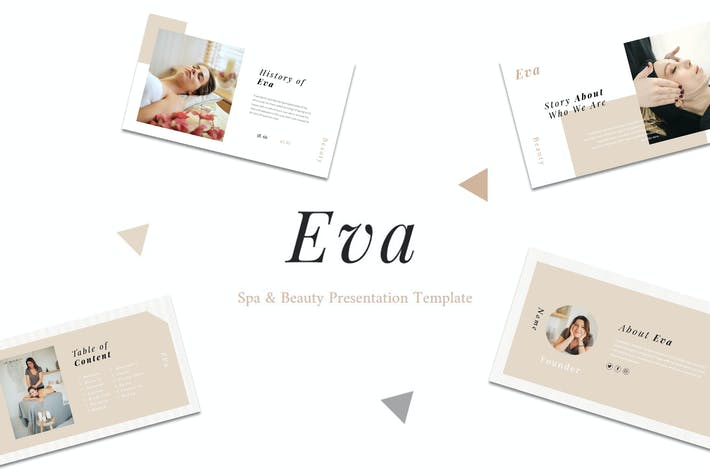 Eva - Спа & Красота Google Slide Шаблон