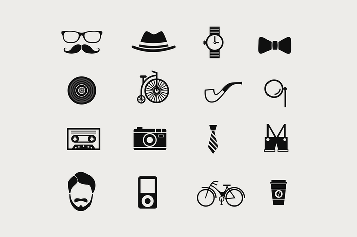 Thumbnail for 16 Hipster Icons