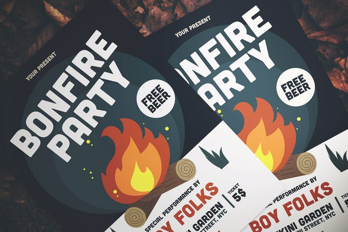 Thumbnail for Bonfire Party Flyer
