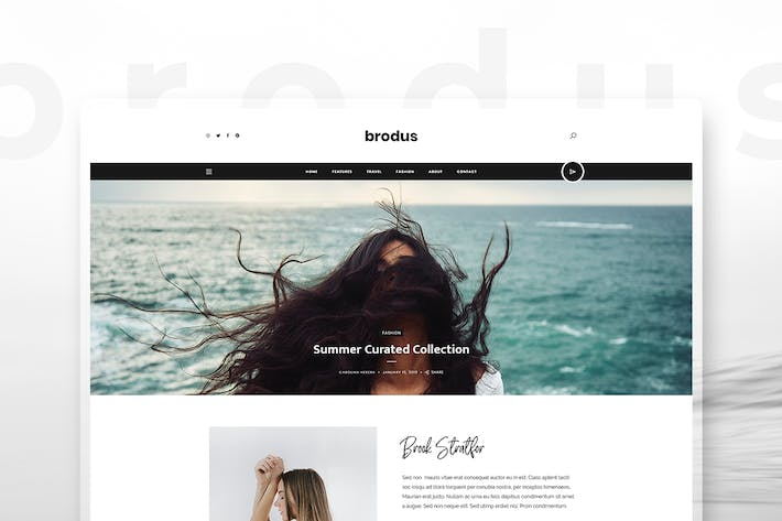 Thumbnail for Brodus - Personal Blog Template for Instagrammers