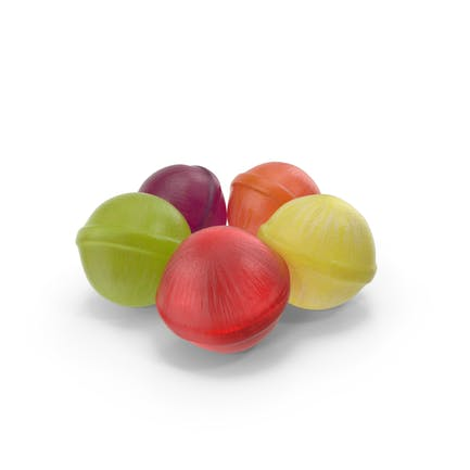 Small Pile of Spherical Hard Candy