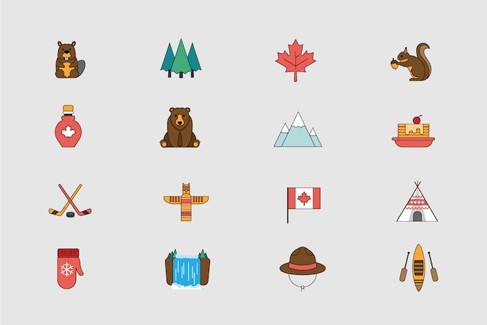 Thumbnail for Canadian Outdoors Icons
