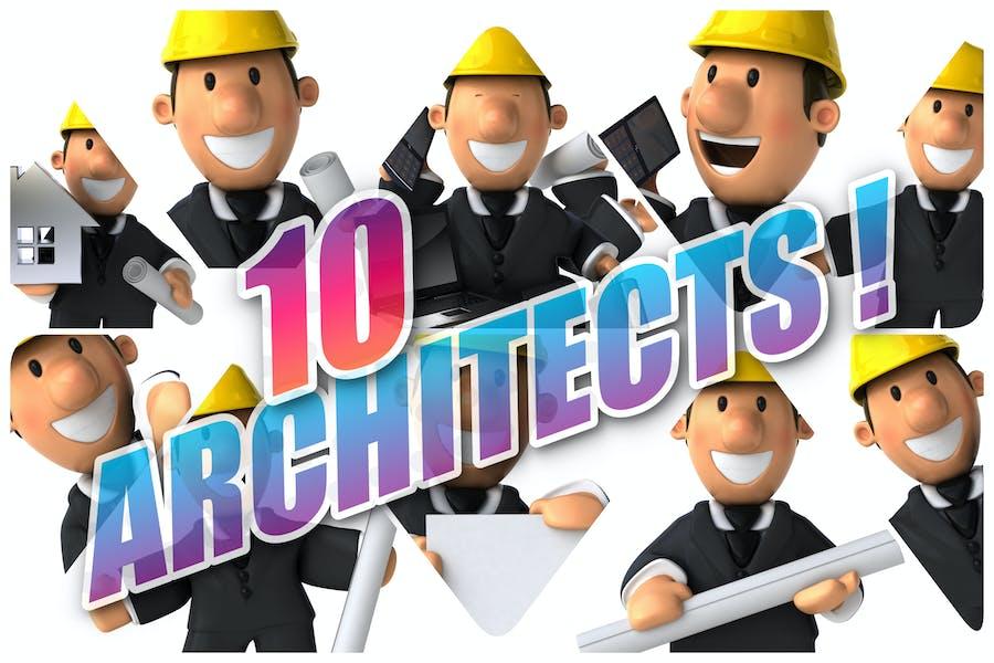10 Cartoon-Architekten!