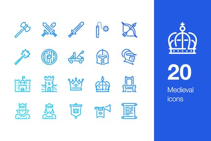20 Medieval icons