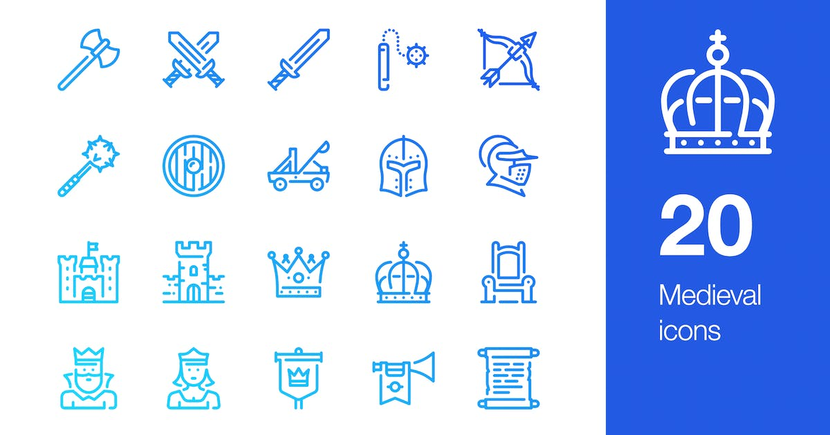 Download 20 Medieval icons by Unknow