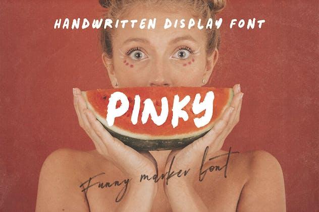 Pinky - Bold Handwritten Font