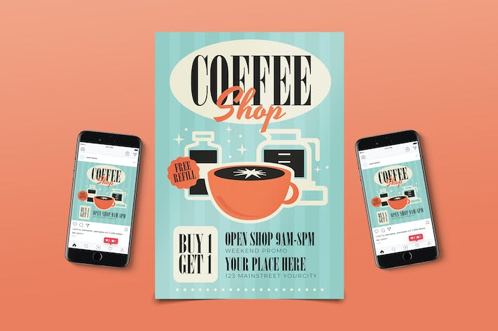 Coffee Shop Promo Flyer Pack