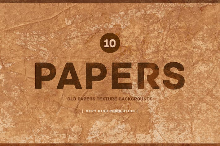 Cover Image For Old Papers  Texture Backgrounds V01